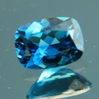 crystal clear blue indicolite gemstone no heat or treated