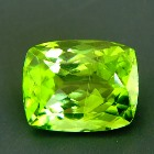 cushion apple green pakistani peridot free of treatments
