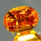 natural clinohumite fire red gemstone no-heat