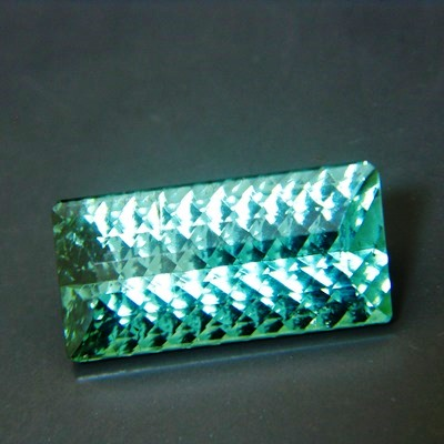 tourmaline free of treatments, concave precision cut, eye-clean over 15 carat
