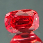 Deep reddish orange Ceylon spinel