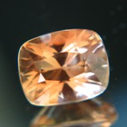 Yellow orange cushion Oregon sunstone