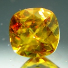 wonderful natural yellow sphene gemstone with inclusion not heat or treated