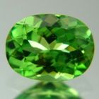 Green oval Tsavorite