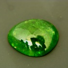 natural green grossularite garnet
