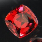malaya garnet from sri lanka free of treatments, square cushion cut