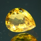 no heat teardrop yellow sapphire
