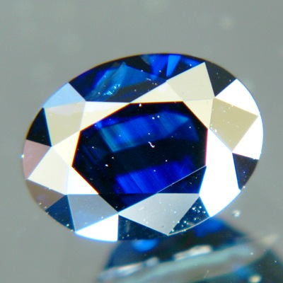 Unheated deepest blue sapphire in finest cutting