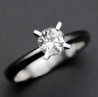 white sapphire in a elegant 18k white gold engagement ring