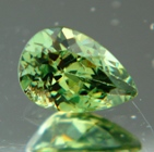 fine green demantoid with diamond luster