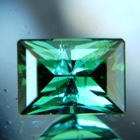 Mint green mozambique tourmaline precision cut