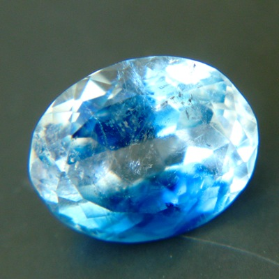 clean faceted blue euclase from zimbabwe in finest blue