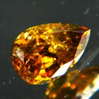 pear orange pumpkin diamond without artificially coloring over half carat