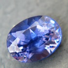 Iolite, free of treatments, deep violet in pleochroic gem