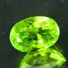 oval dark green green pakistani peridot free of treatments