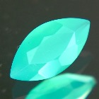 untreated neon blue-green chrysoprase in marquise cut