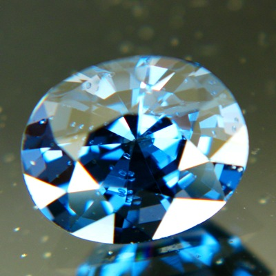 Cobalt spinel without treatments deep blue