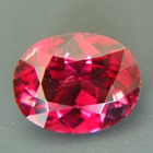 red garnet from kashmir free of treatments, oval