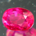 ruby untreated natural and oval