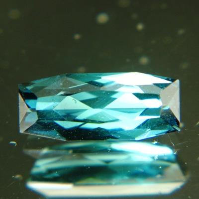 Deep green blue shield Mozambique indicolite