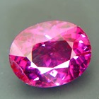 rhodolite garnet from Africa, free of treatments, oval pure purple in vivid hue