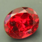 Untreated Bordeaux red garnet