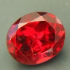 Untreated Bordeaux red garnet