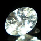 untreated white sapphire like diamond with dispersion