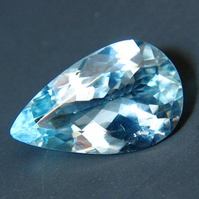 12x8 pear shaped aquamarine free of treatments