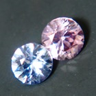 matching pair of certified unheated 3mm round sapphire