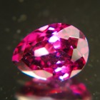 pear rhodolite garnet from sri lanka free of treatments, pear cut, neon red-purple