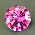 round rhodolite with color change certificate from DSEF