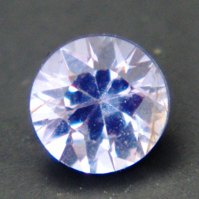 blue-purple round brilliant from Ceylon, unheated and natural