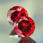 untreated red garnets in exactly matching pair round