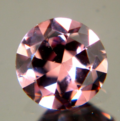 unheated red zircon from Sri Lanka in wide pear shape