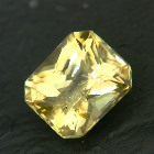 Unheated yellow sapphire from Sri Lanka in princess cut