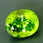 classic oval, best lime green pakistani peridot free of treatments over six carat