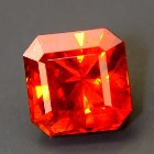 spessartite garnet free of treatments, no window, no eye-visible inclusions, no black-out even in lo
