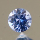 blue round brilliant from Ceylon, unheated and natural, free of inclusions,