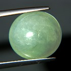 Burmese untreated silver green sage jade type A round
