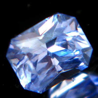 lilac blue princess cut sapphire from Ceylon, unheated and natural, no window, IGI report 3nos of ex