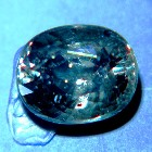 pyrope spessartite colorchange garnet green to red in rare size two carat trillion