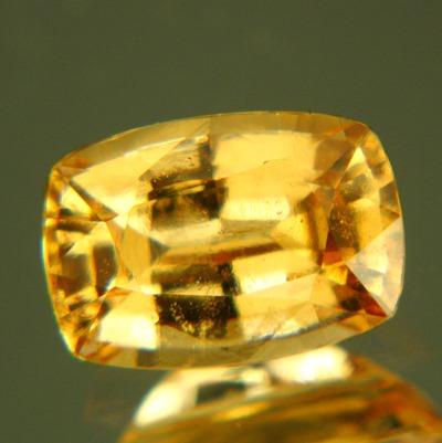 fine shiny orange hessonite from Sri Lanka