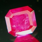untreated ruby in square rectangular