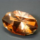 oval precision cut 3D orange untreated topaz unheated and natural