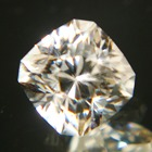 precision cut unheated near white zircon from Sri Lanka in square shape precision cut