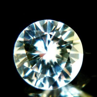 Bi-colored white Ceylon sapphire