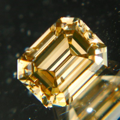 emerald ideal cut champagne diamonds without artificially coloring over two carats