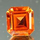 dark orange octagon Mozambique tourmaline