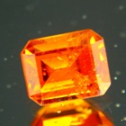 Deep neon orange Spessartite garnet from tanzania